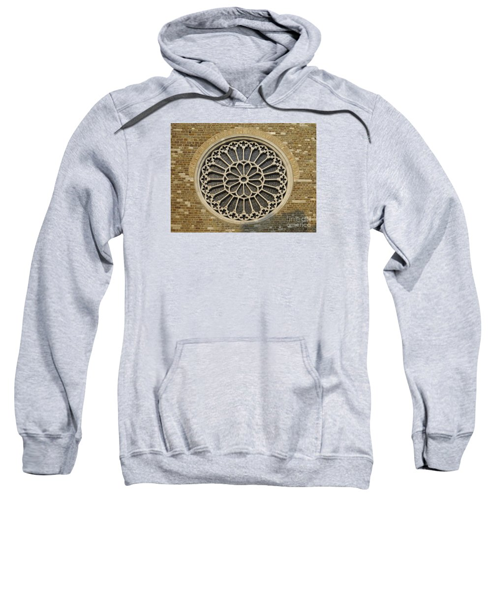 Saint Justus Sweatshirt featuring the photograph Rose Of The Cathedral Of San Giusto by Riccardo Mottola