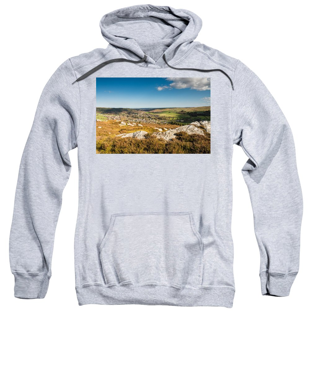 Northumberland Sweatshirt featuring the photograph Rothbury Town From The Terraces by David Head