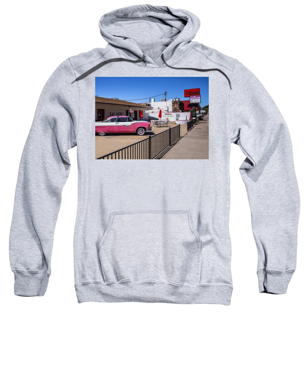 Route 66 Sweatshirt featuring the photograph Route 66 Diner by Angus Hooper Iii