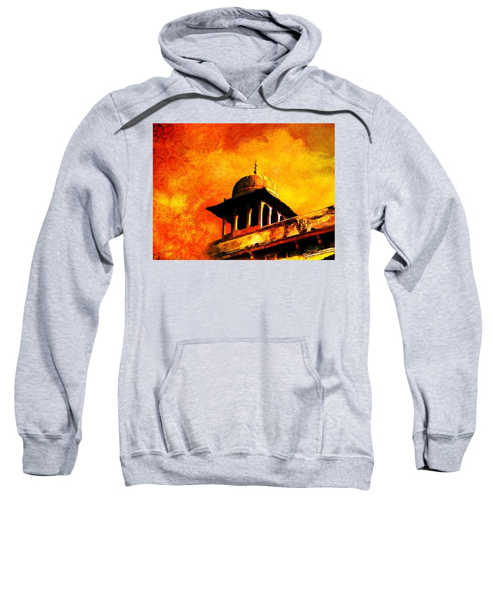 Pakistan Sweatshirt featuring the painting Royal Fort 01 by Catf