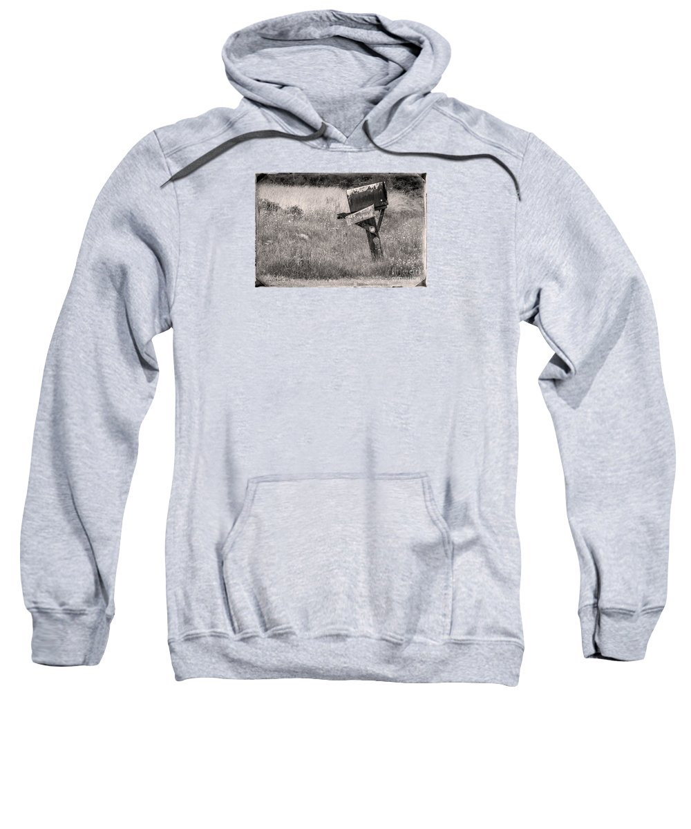 Mailbox Sweatshirt featuring the photograph Rural Route Mail Call by Jean OKeeffe Macro Abundance Art