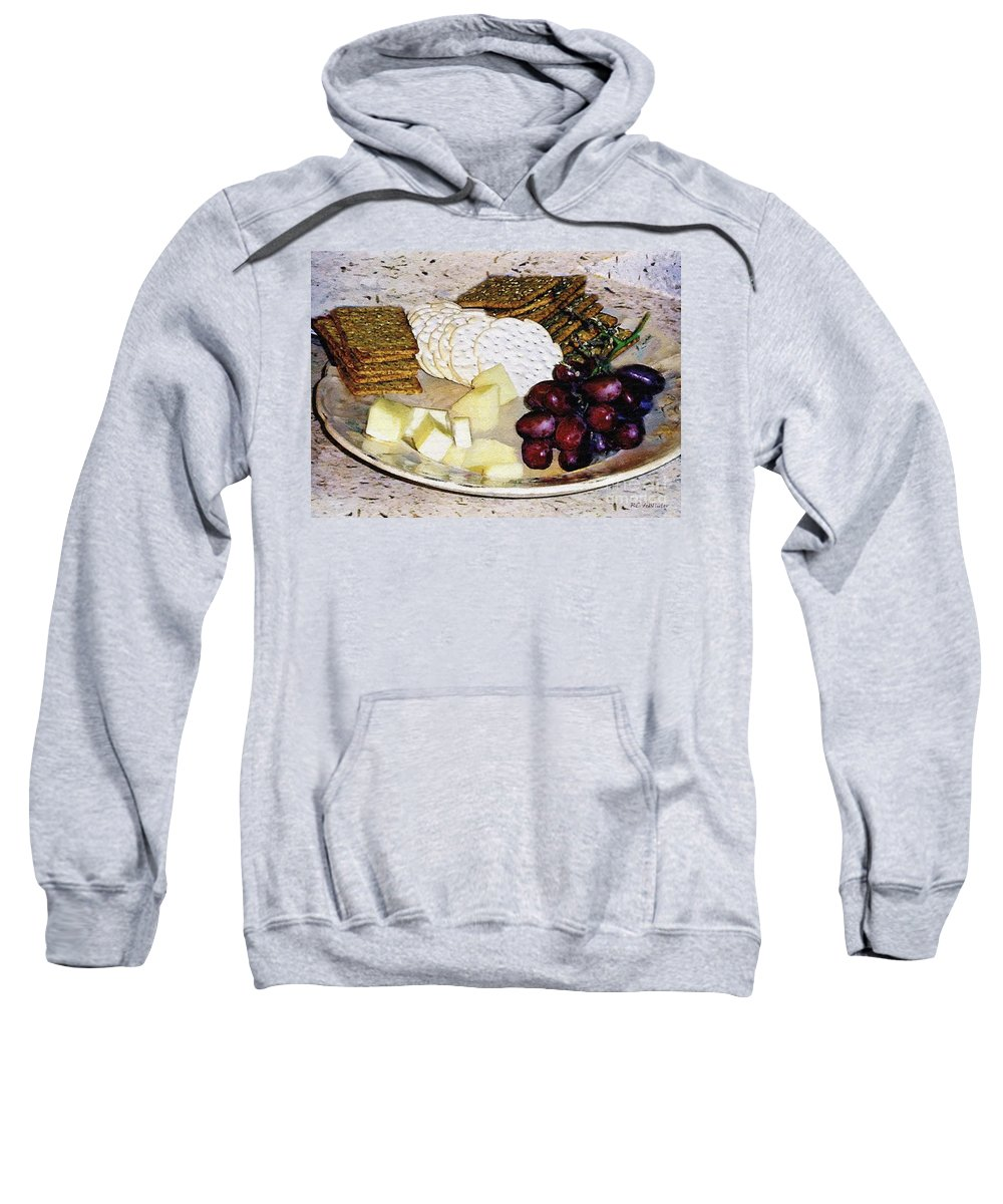 Cheese Sweatshirt featuring the painting Rustic Repast by RC DeWinter