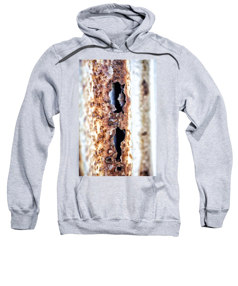 Rust Sweatshirt featuring the photograph Rusty Fence by Russ Dixon
