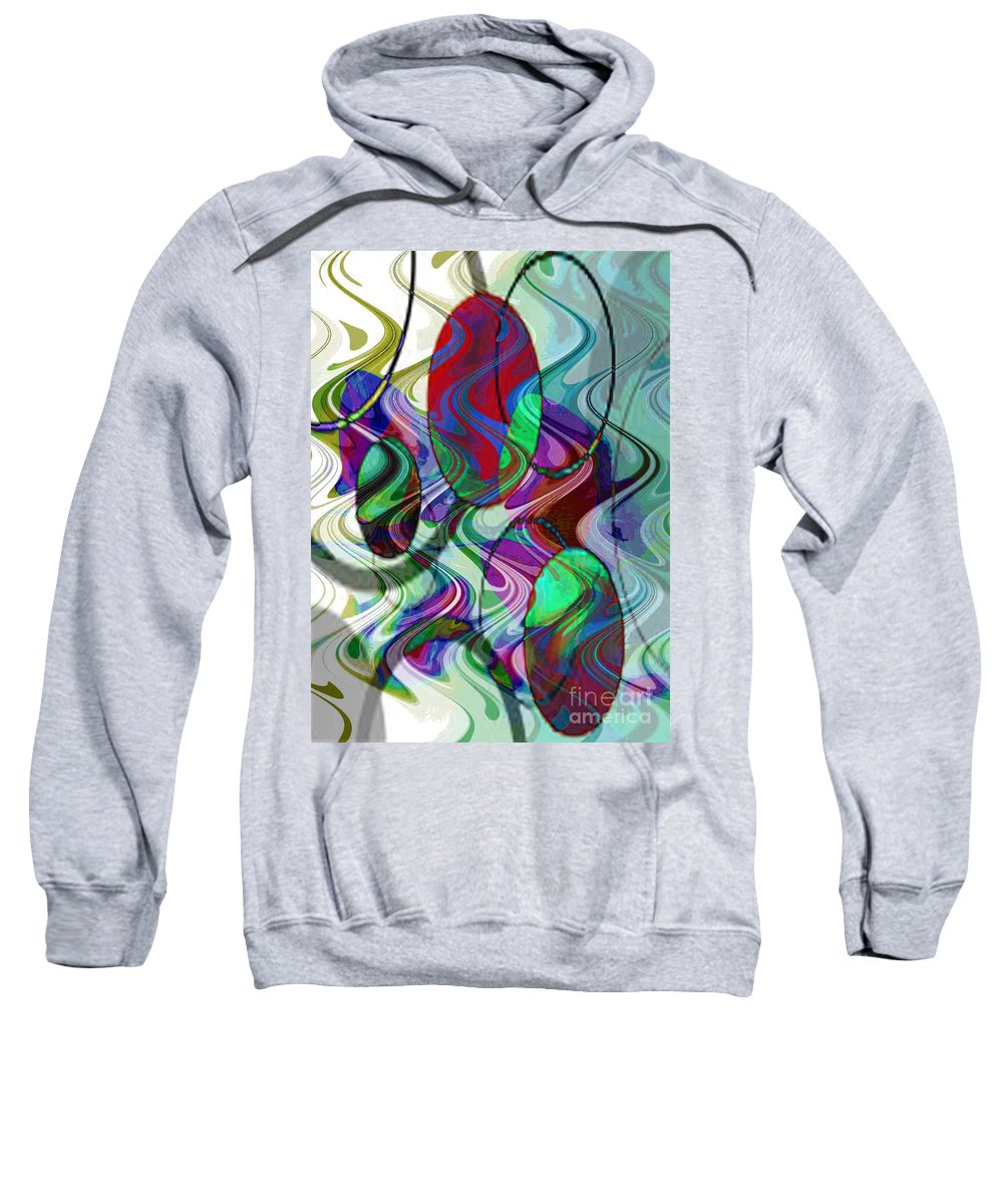 Digital Art Abstract Sweatshirt featuring the digital art Rythem Of Change by Yael VanGruber
