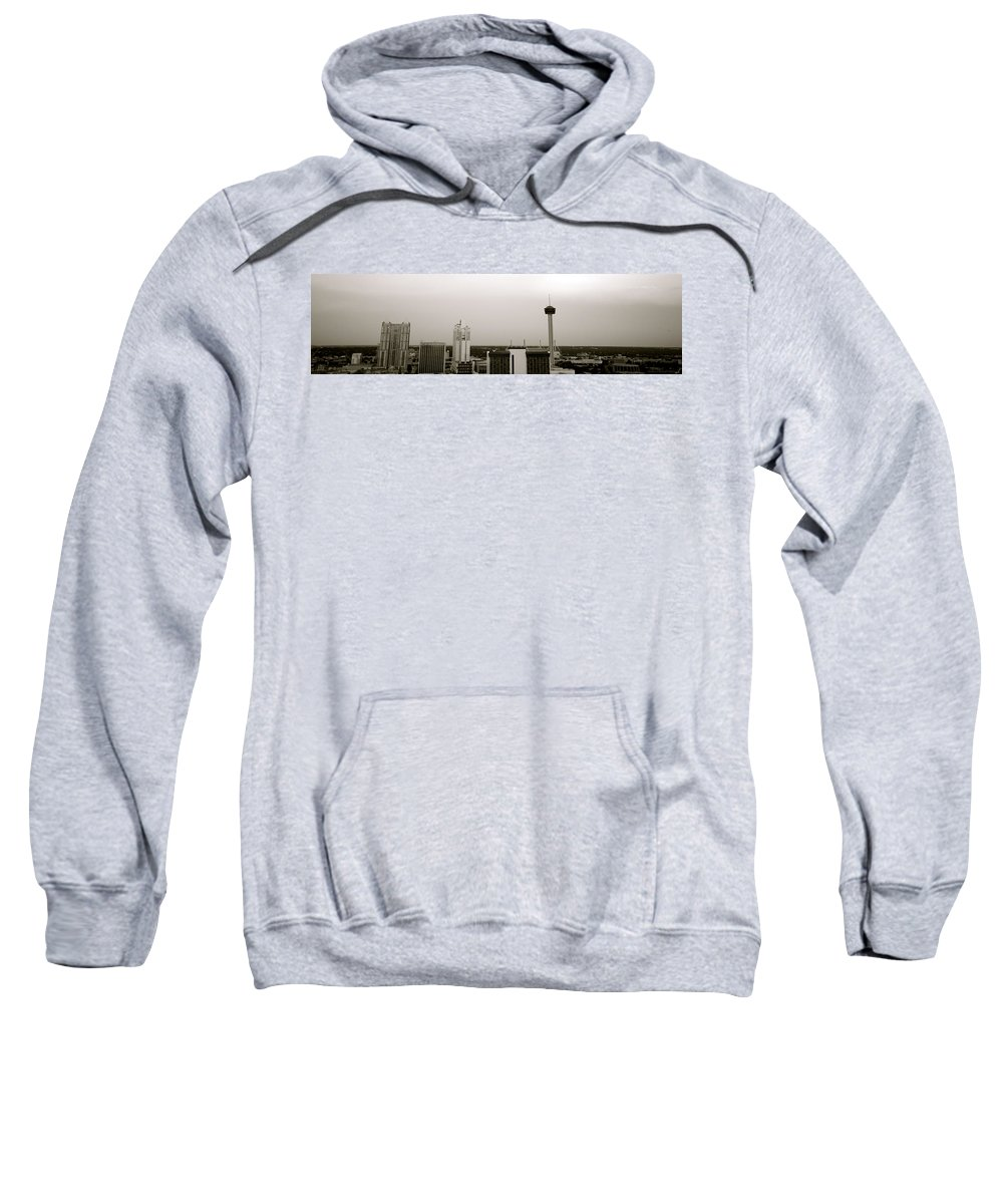 Architecture Sweatshirt featuring the photograph Sa Skyline 001 by Shawn Marlow