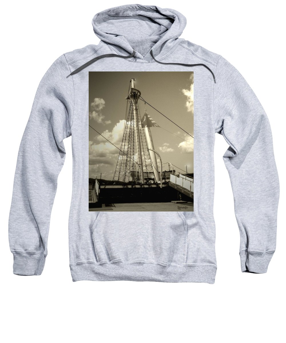 Sailboat Sweatshirt featuring the photograph Safe Harbor At Sunset by RC DeWinter