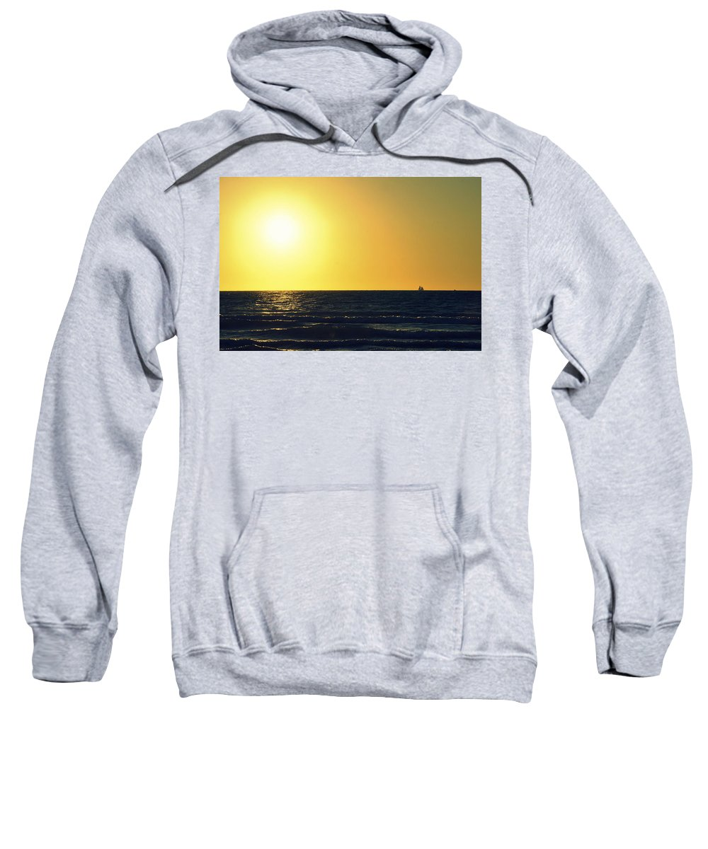 Venice Beach Sweatshirt featuring the photograph Sailing In Venice 3 by Laurie Perry