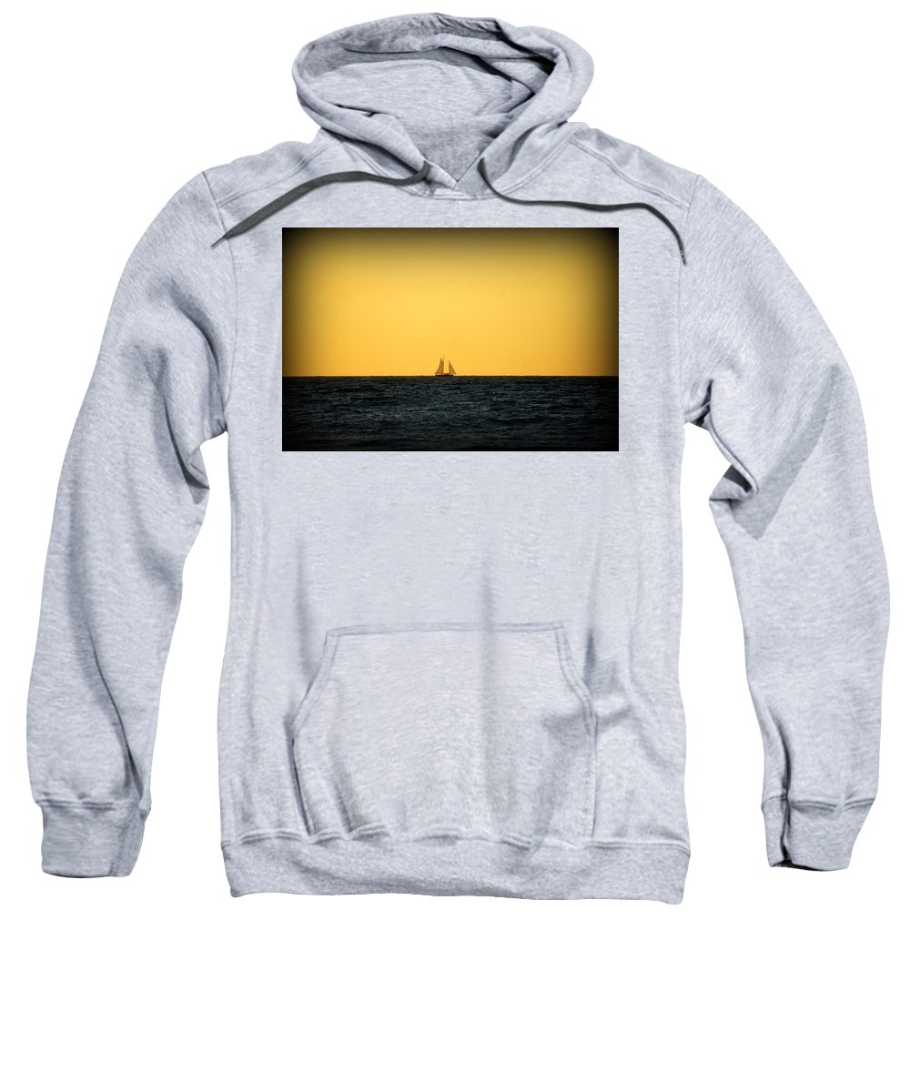 Venice Beach Sweatshirt featuring the photograph Sailing In Venice by Laurie Perry