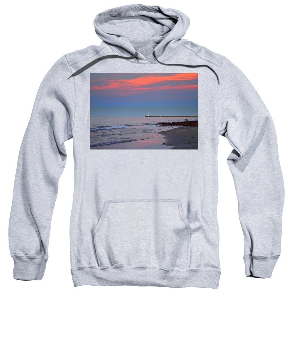 Sunset Sweatshirt featuring the photograph Sailors Guide by Frozen in Time Fine Art Photography