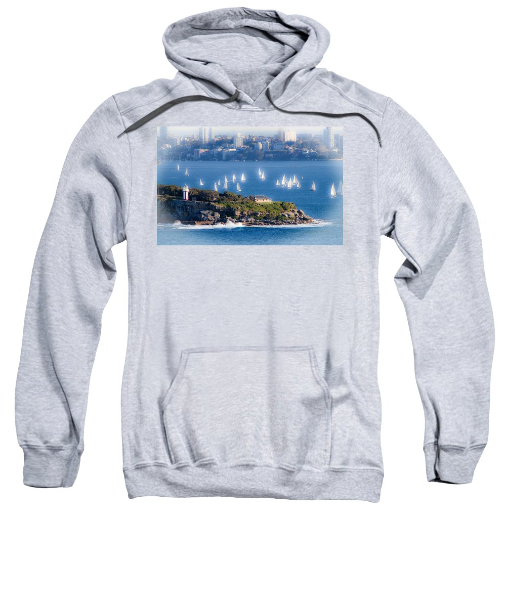 South Head Sweatshirt featuring the photograph Sails Out To Play by Miroslava Jurcik