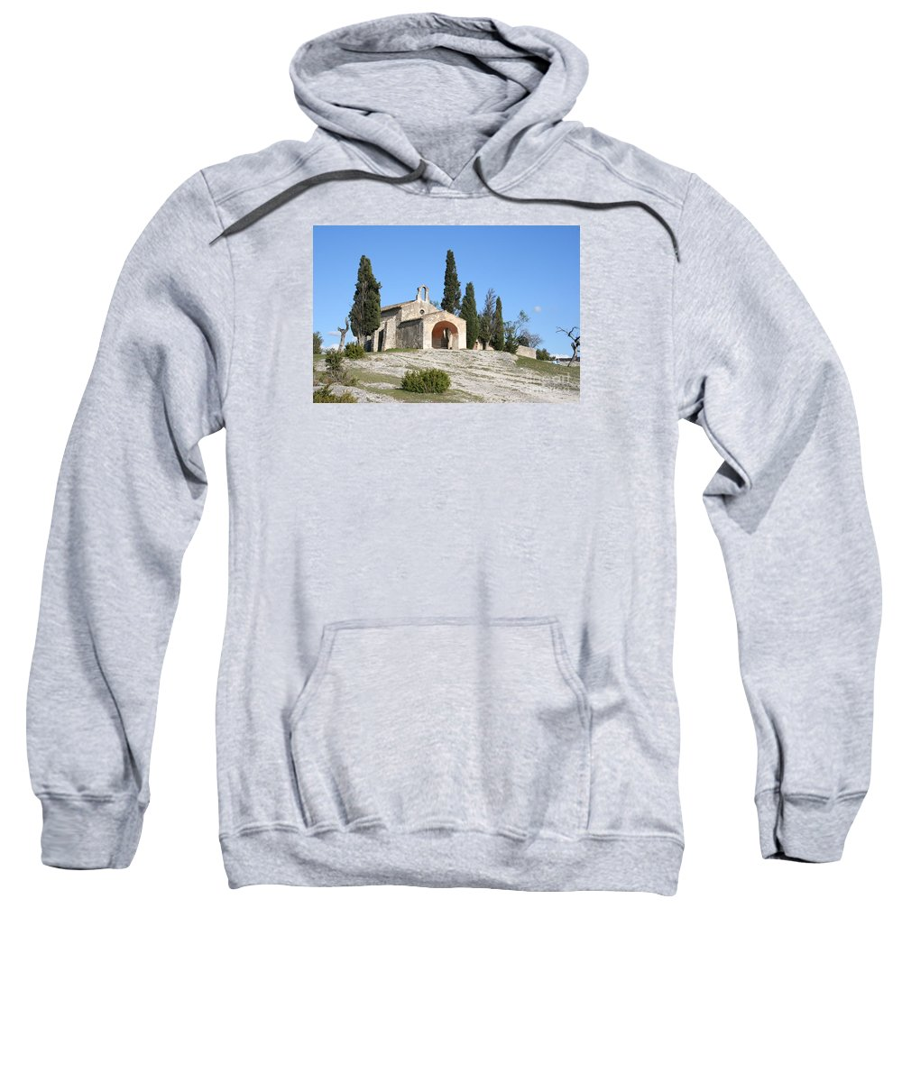 Chapel Sweatshirt featuring the photograph Saint Sixte An Old Chapel by Christiane Schulze Art And Photography