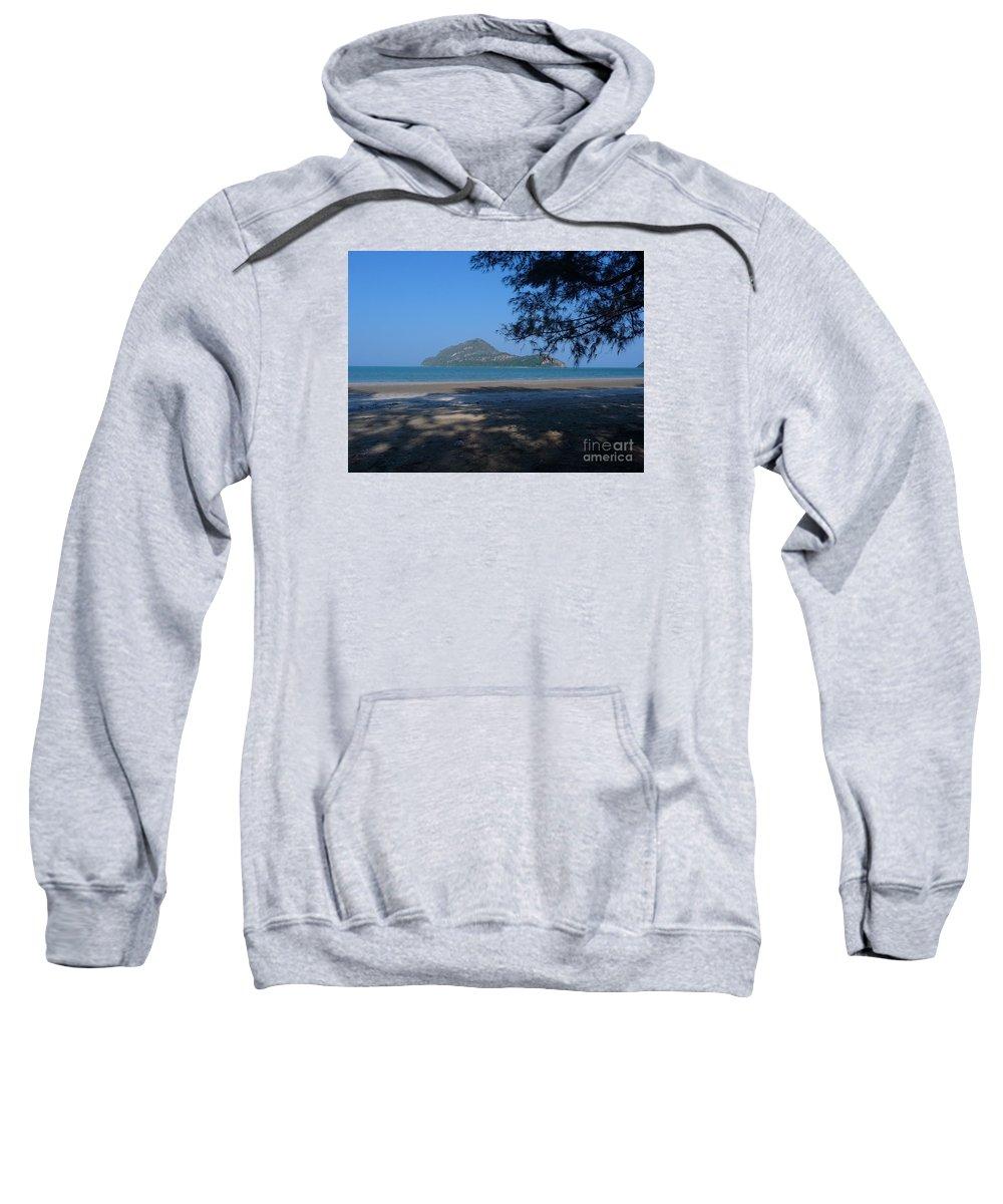 Seascape Sweatshirt featuring the photograph Sam Roi Yod Beach 03 by Pusita Gibbs