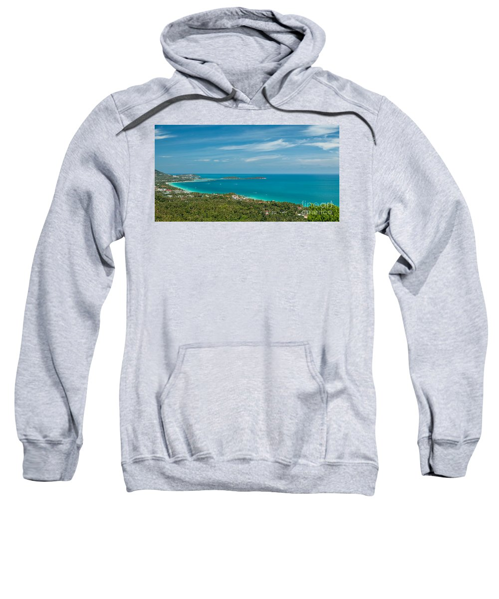 Chaweng Sweatshirt featuring the photograph Samui Thailand by Adrian Evans