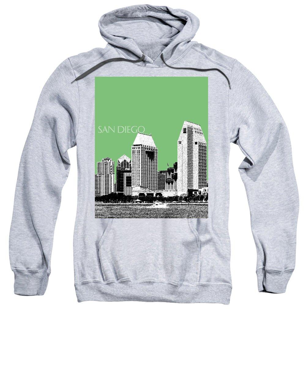 Architecture Sweatshirt featuring the digital art San Diego Skyline 2 - Apple by DB Artist