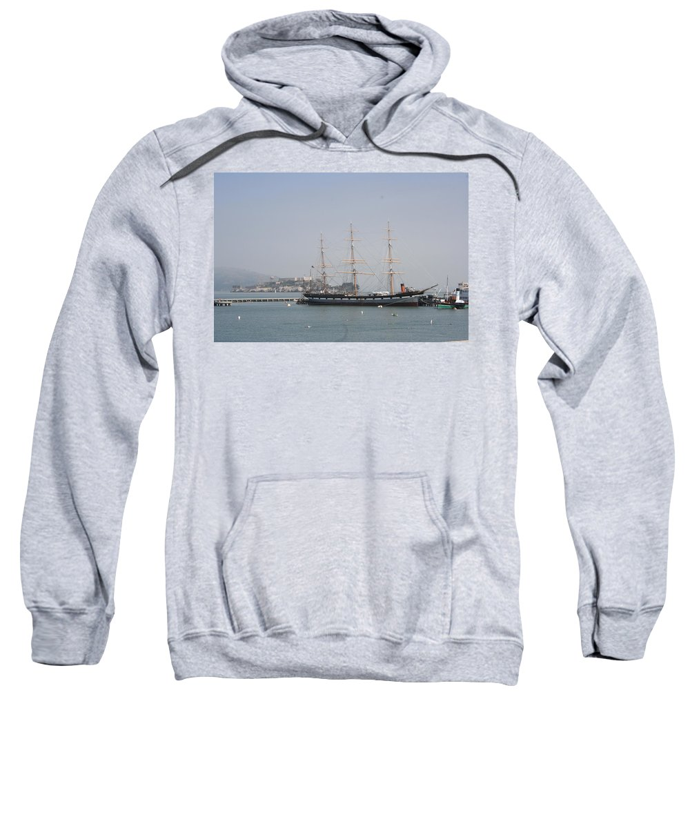 San Francisco Sweatshirt featuring the photograph San Francisco - Hyde Street Pier - Balclutha by Christiane Schulze Art And Photography