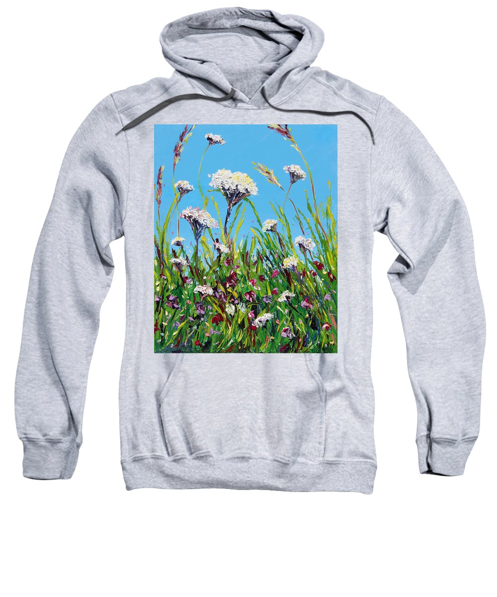 Landscape Sweatshirt featuring the painting Sanctuary by Meaghan Troup