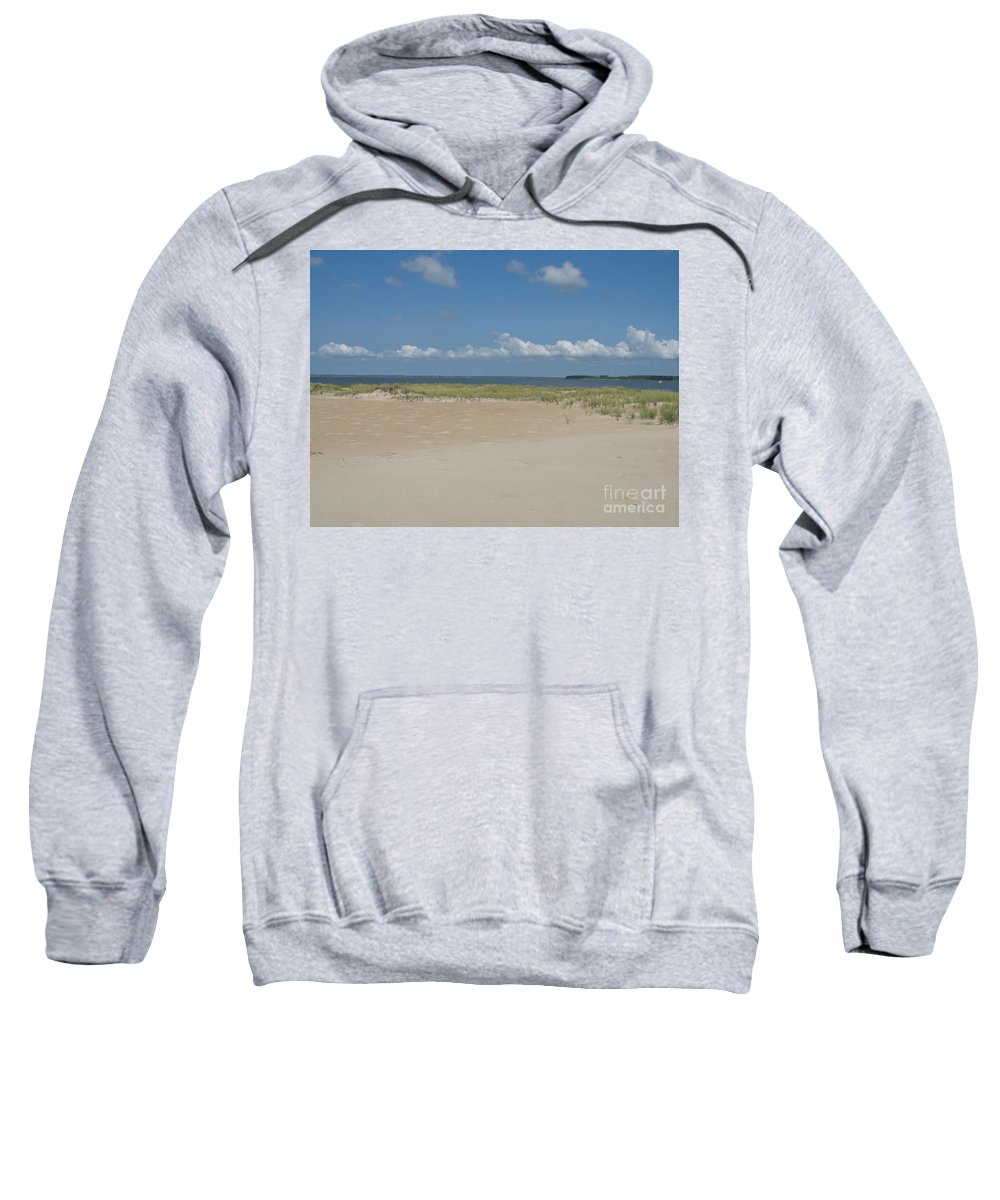 Sea Sweatshirt featuring the photograph Sand And Ocean Of Assateague Island National Seashore by Christiane Schulze Art And Photography