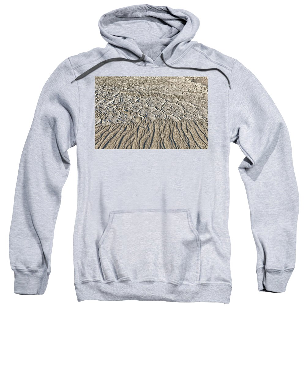 Death Valley Sweatshirt featuring the photograph Sand Dunes Like Fine Cloth by Angela Stanton