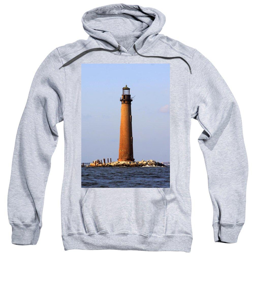 Lighthouse Sweatshirt featuring the photograph Sand Island Lighthouse - Alabama by Travis Truelove