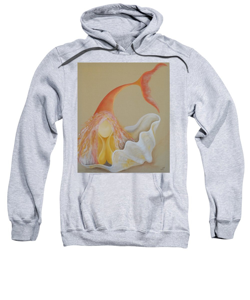 Sand Soul Sweatshirt featuring the painting Sand Soul by Catt Kyriacou