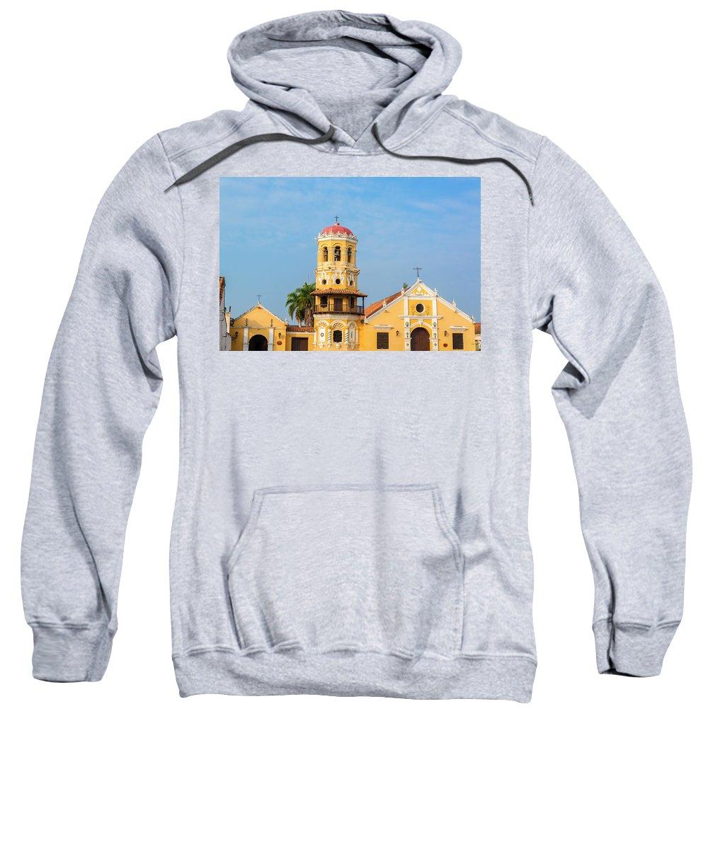 America Sweatshirt featuring the photograph Santa Barbara Church by Jess Kraft