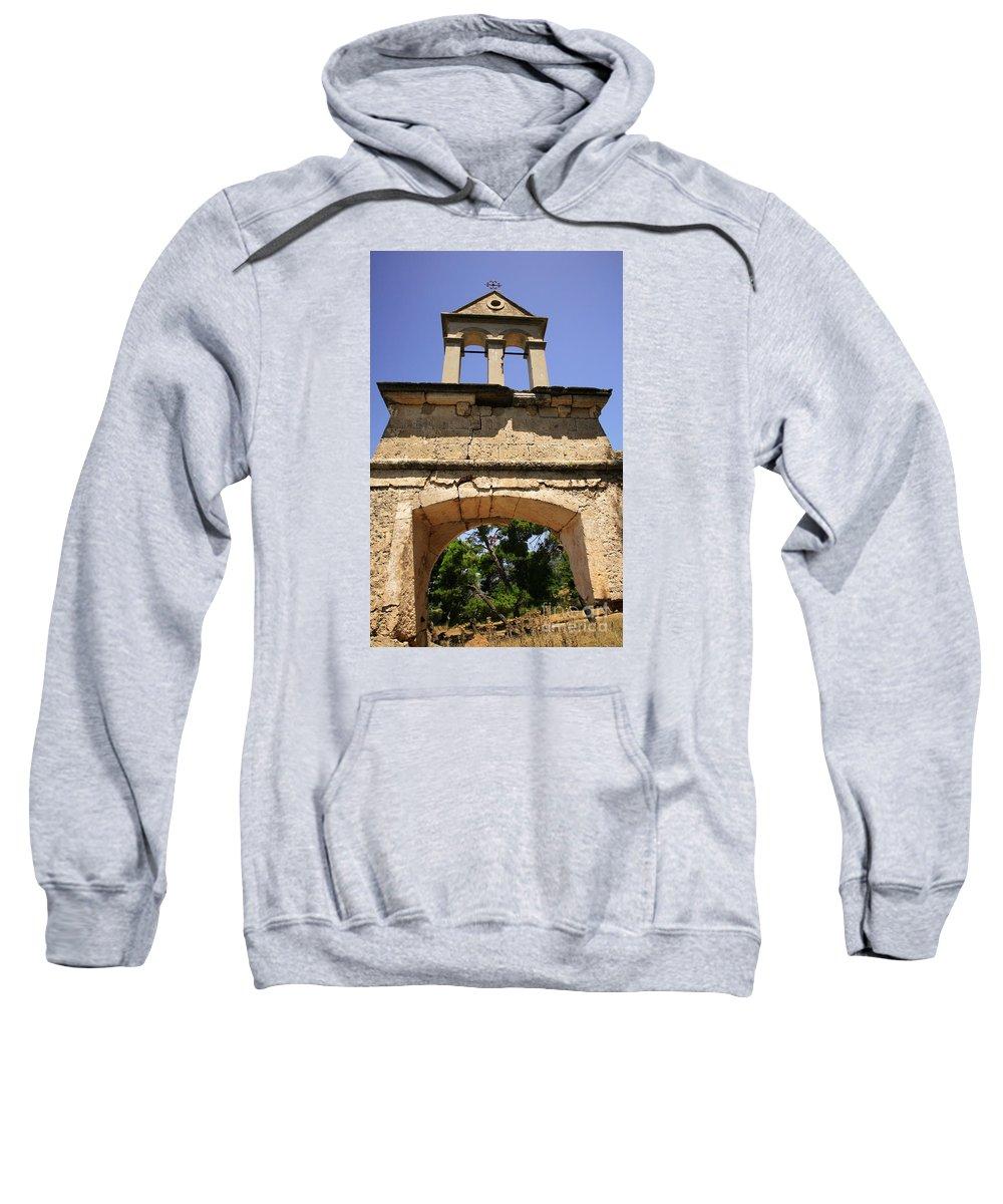 1953 Sweatshirt featuring the photograph Sassia Monastery Bell Tower by Deborah Benbrook
