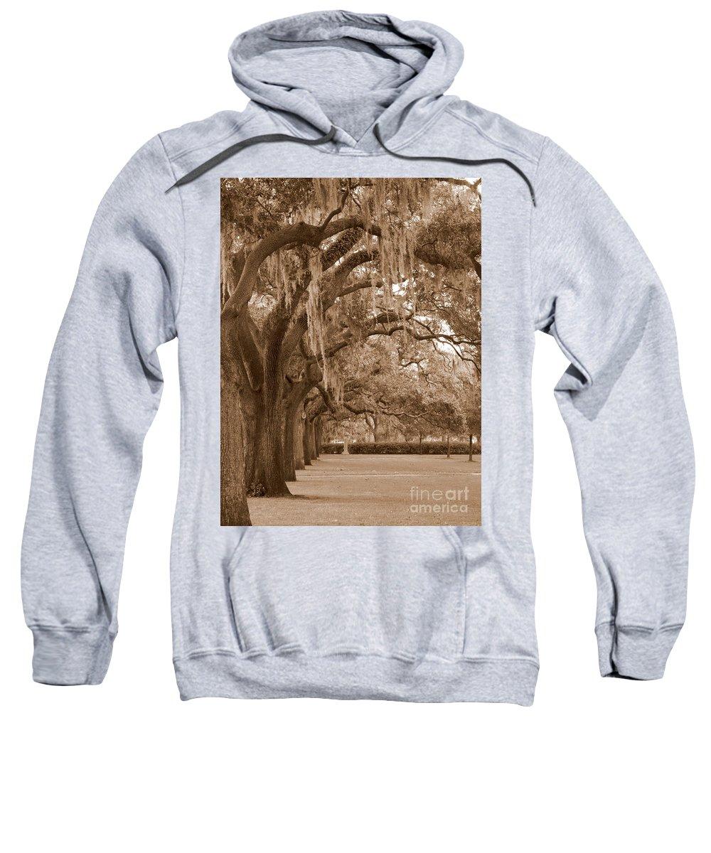 Savannah Sweatshirt featuring the photograph Savannah Sepia - Emmet Park by Carol Groenen