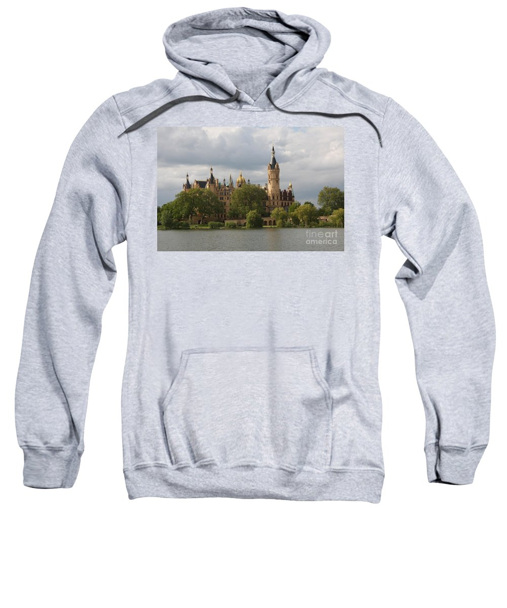Schwerin Sweatshirt featuring the photograph Schwerin Palace - Germany by Christiane Schulze Art And Photography