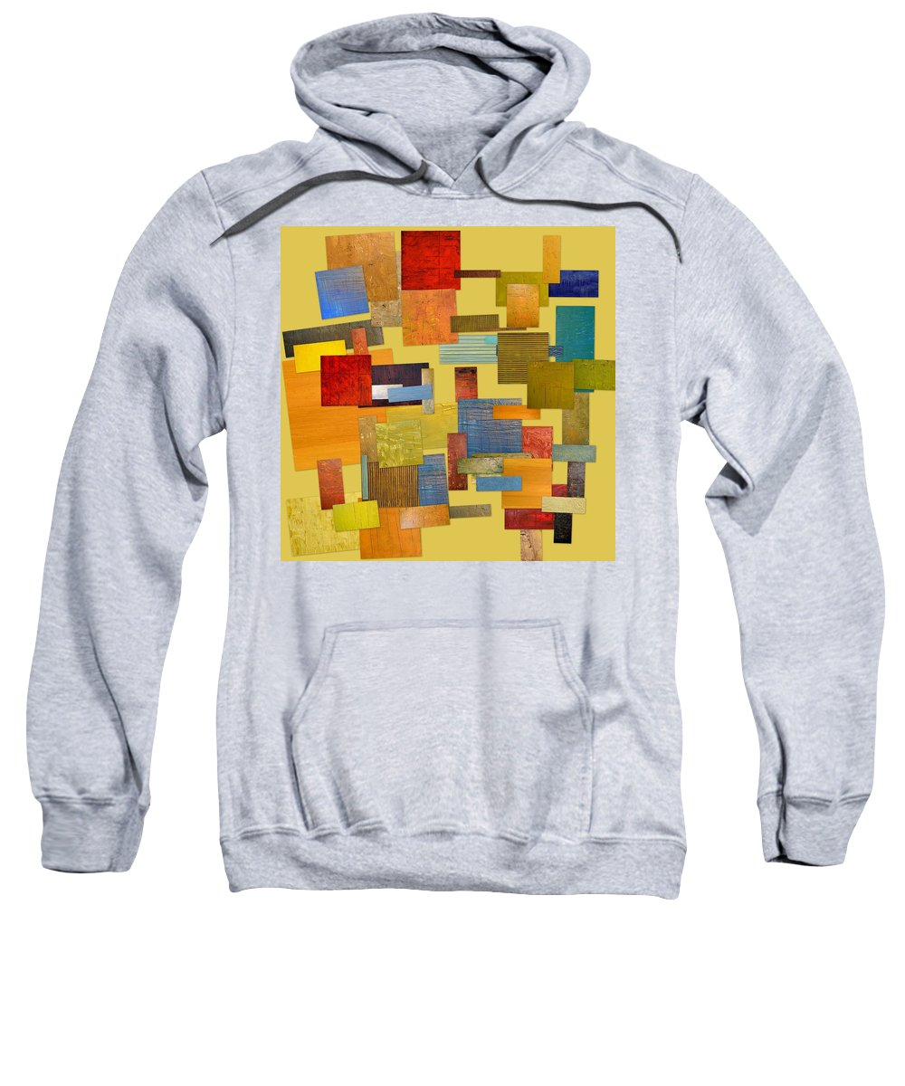 Textural Sweatshirt featuring the painting Scrambled Eggs Lll by Michelle Calkins