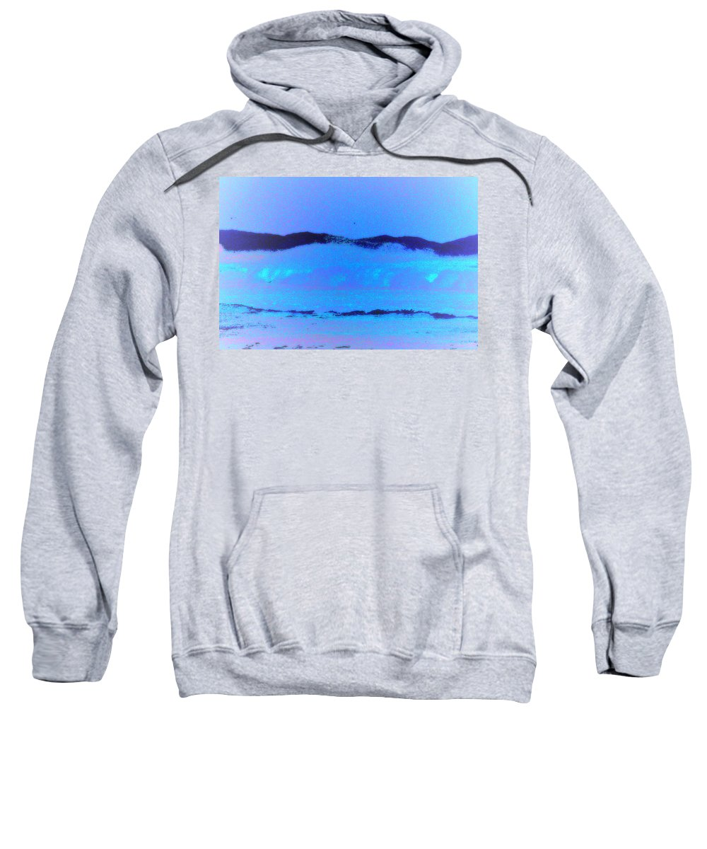 Landscape Sweatshirt featuring the photograph Sea At Its Bluest by SilkAndPaper Art