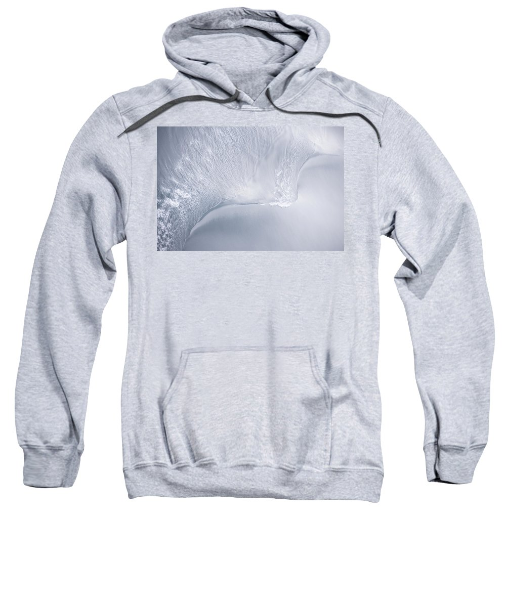 Abstract Sweatshirt featuring the photograph Sea Blue Water Abstract by Zina Zinchik