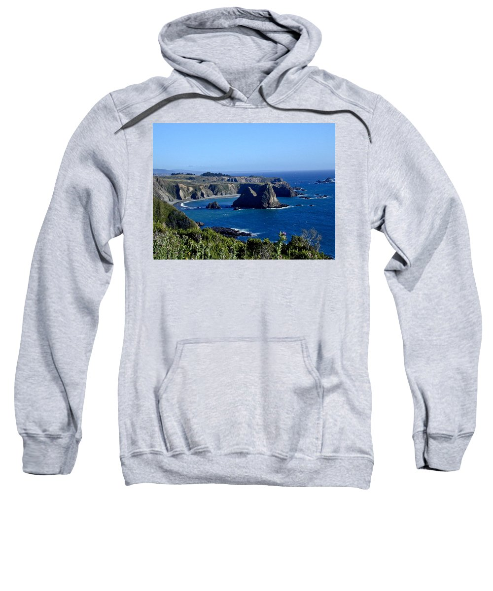 Sea Sweatshirt featuring the photograph Sea Coast Of Northern California by Douglas Barnett