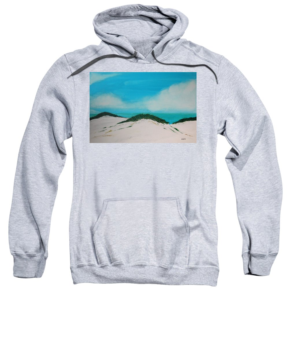 Beach Sweatshirt featuring the painting Sea Oat Dune 4 by Rhodes Rumsey
