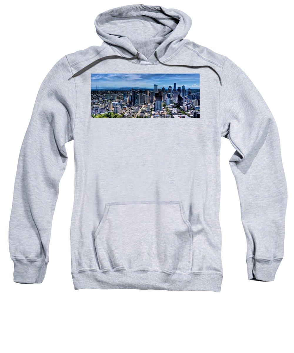 City Sweatshirt featuring the photograph Seattle City by Jonny D