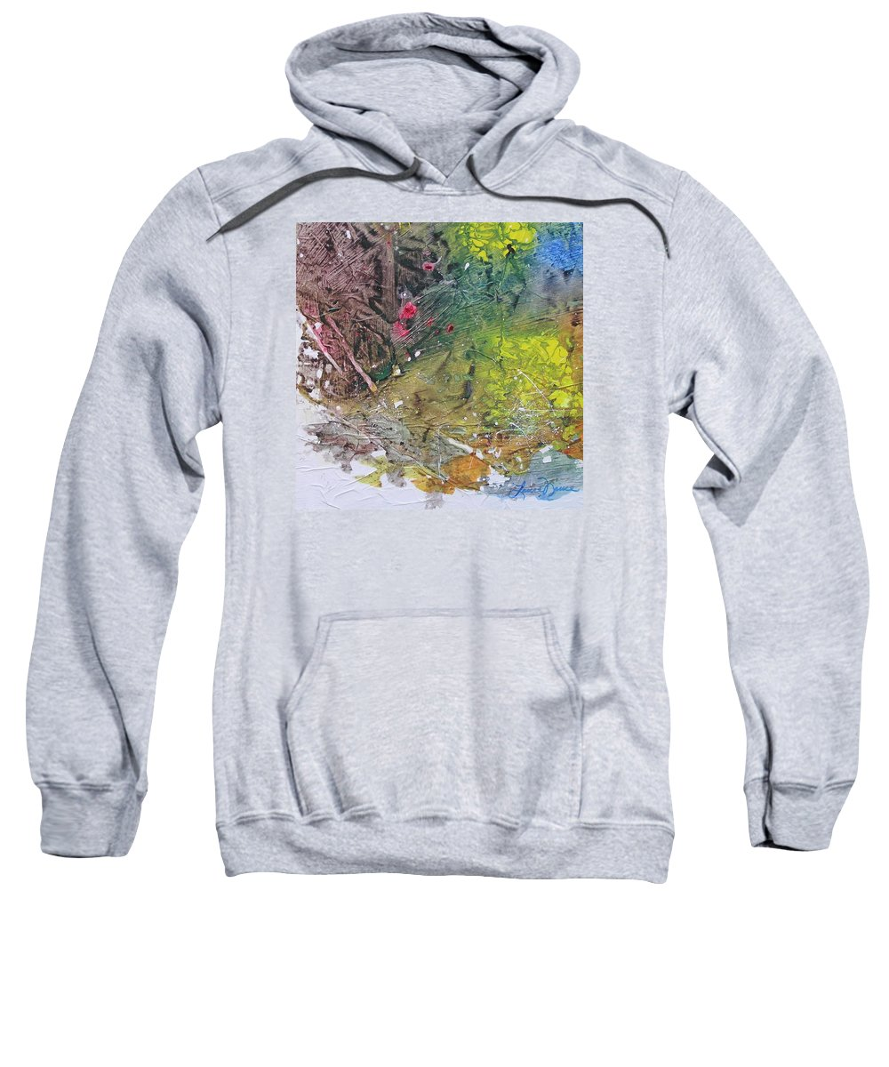 Secluded Sweatshirt featuring the painting Secluded by Laura Nance