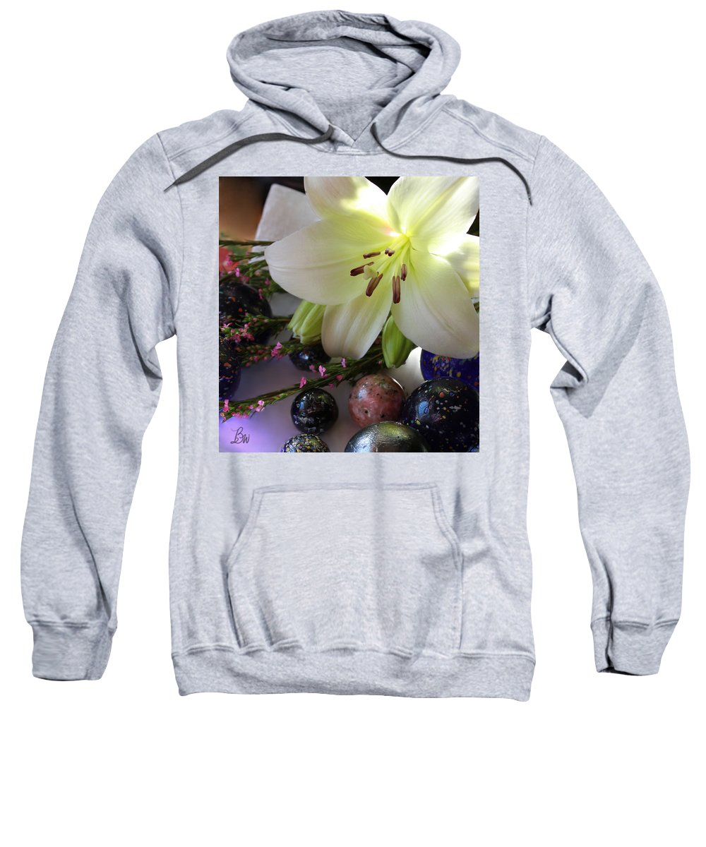 Lilly Sweatshirt featuring the photograph Send The Light Lily With Marbles by Bonnie Willis