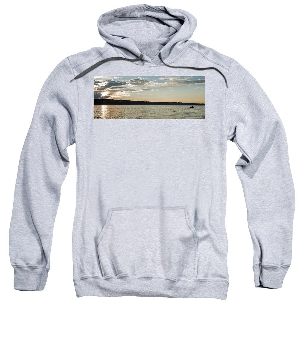 Sunset Sweatshirt featuring the photograph Seneca Lake Living by Photographic Arts And Design Studio