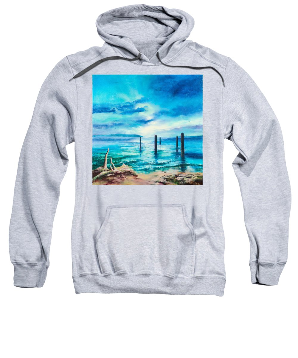 Sea Sweatshirt featuring the painting Sentinels by C J Elsip