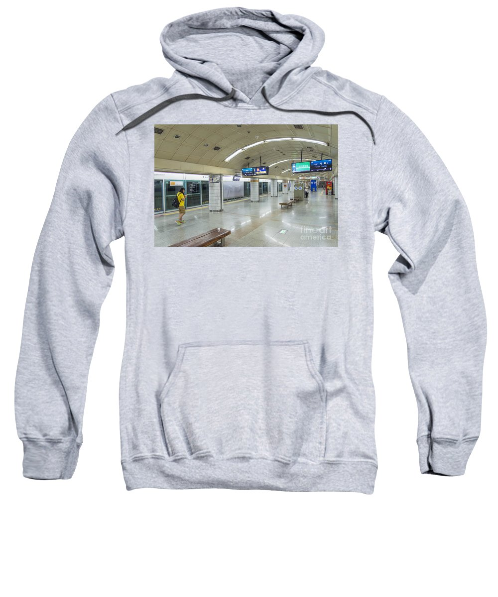 Asia Sweatshirt featuring the photograph Seoul Metro Station In South Korea by Jacek Malipan