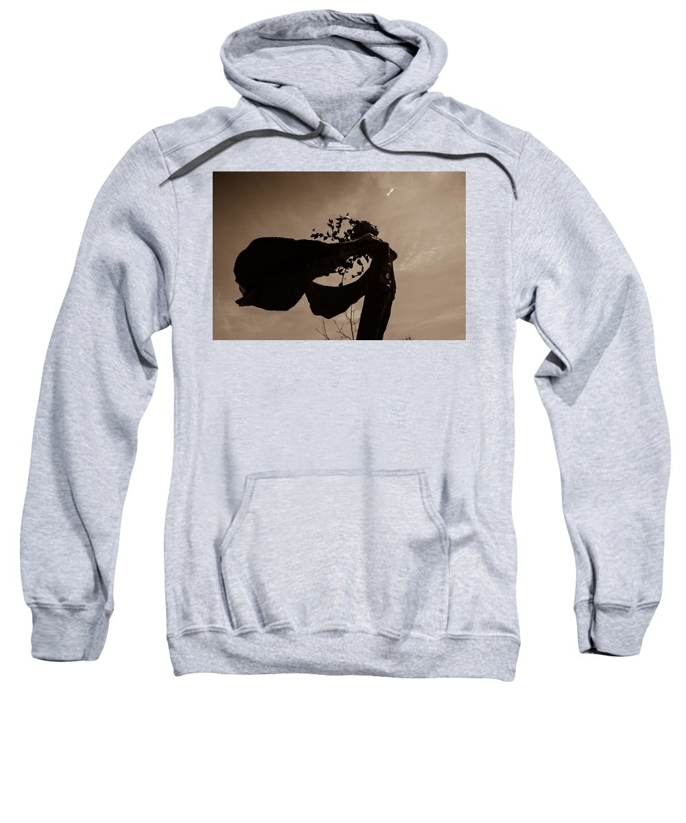 Sweatshirt featuring the photograph Sepia by Sue Conwell