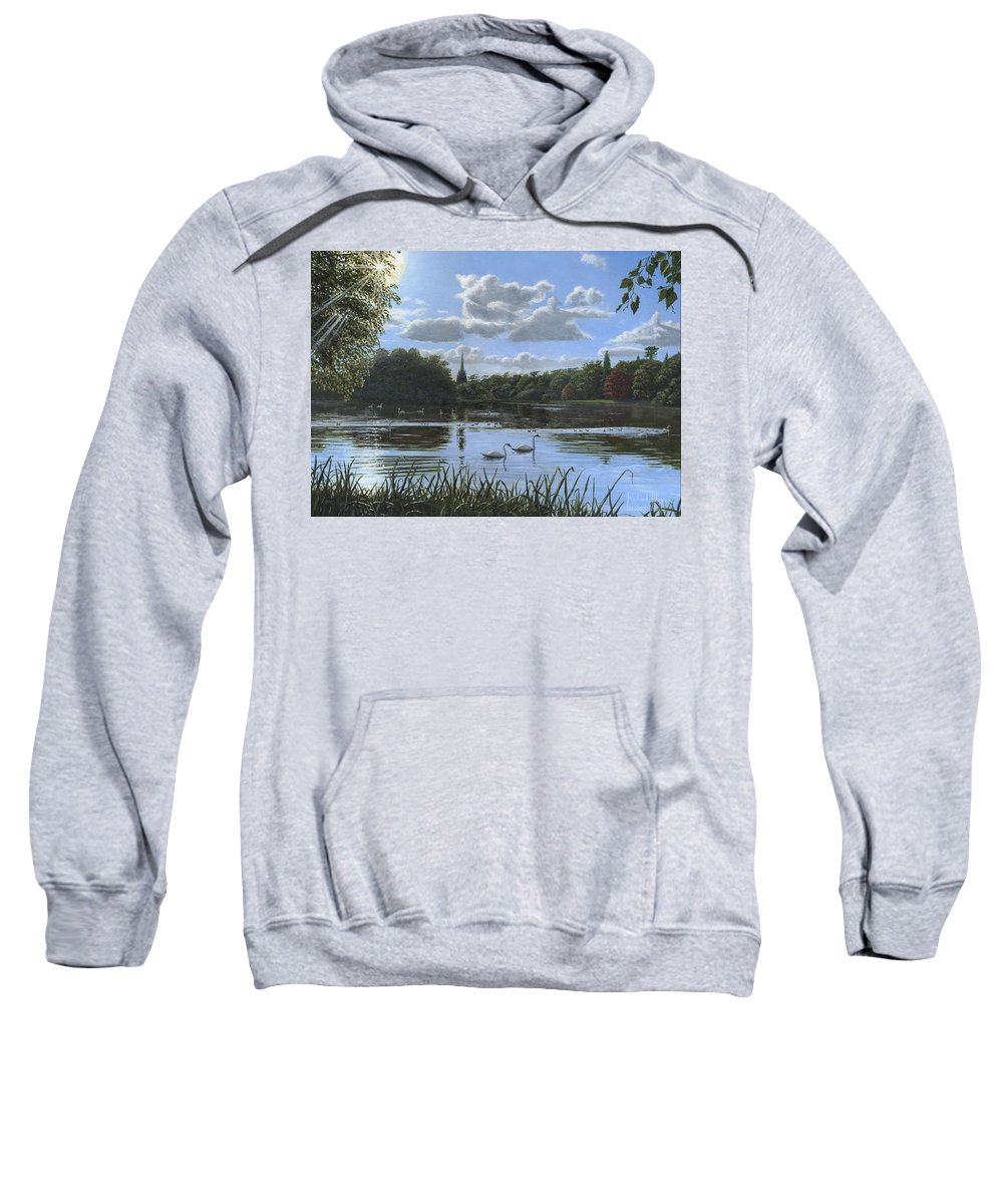 Landscape Sweatshirt featuring the painting September Afternoon In Clumber Park by Richard Harpum