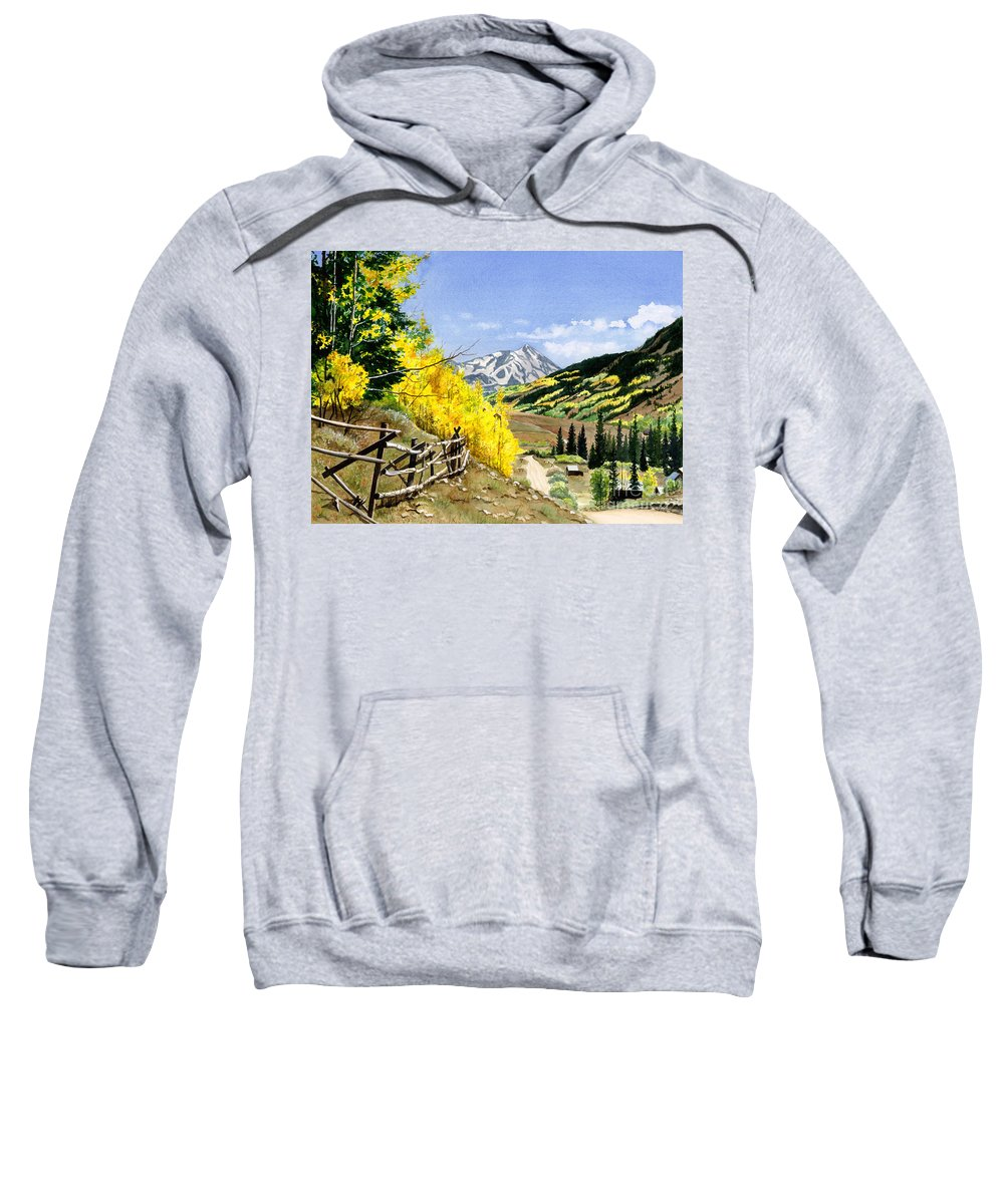 Water Color Paintings Sweatshirt featuring the painting September Gold by Barbara Jewell
