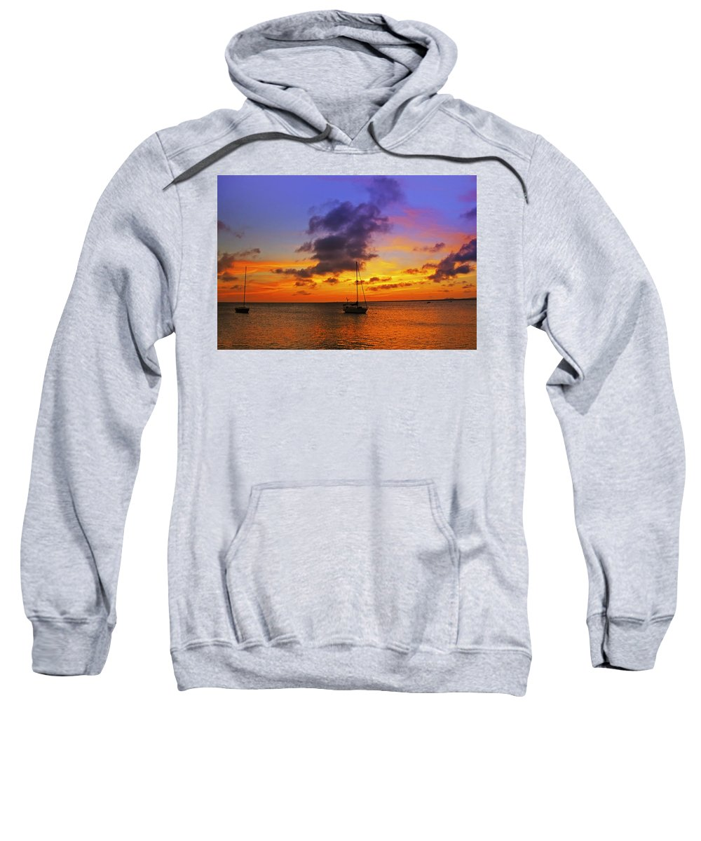 Ocean Sweatshirt featuring the photograph Serenity by Stephen Anderson