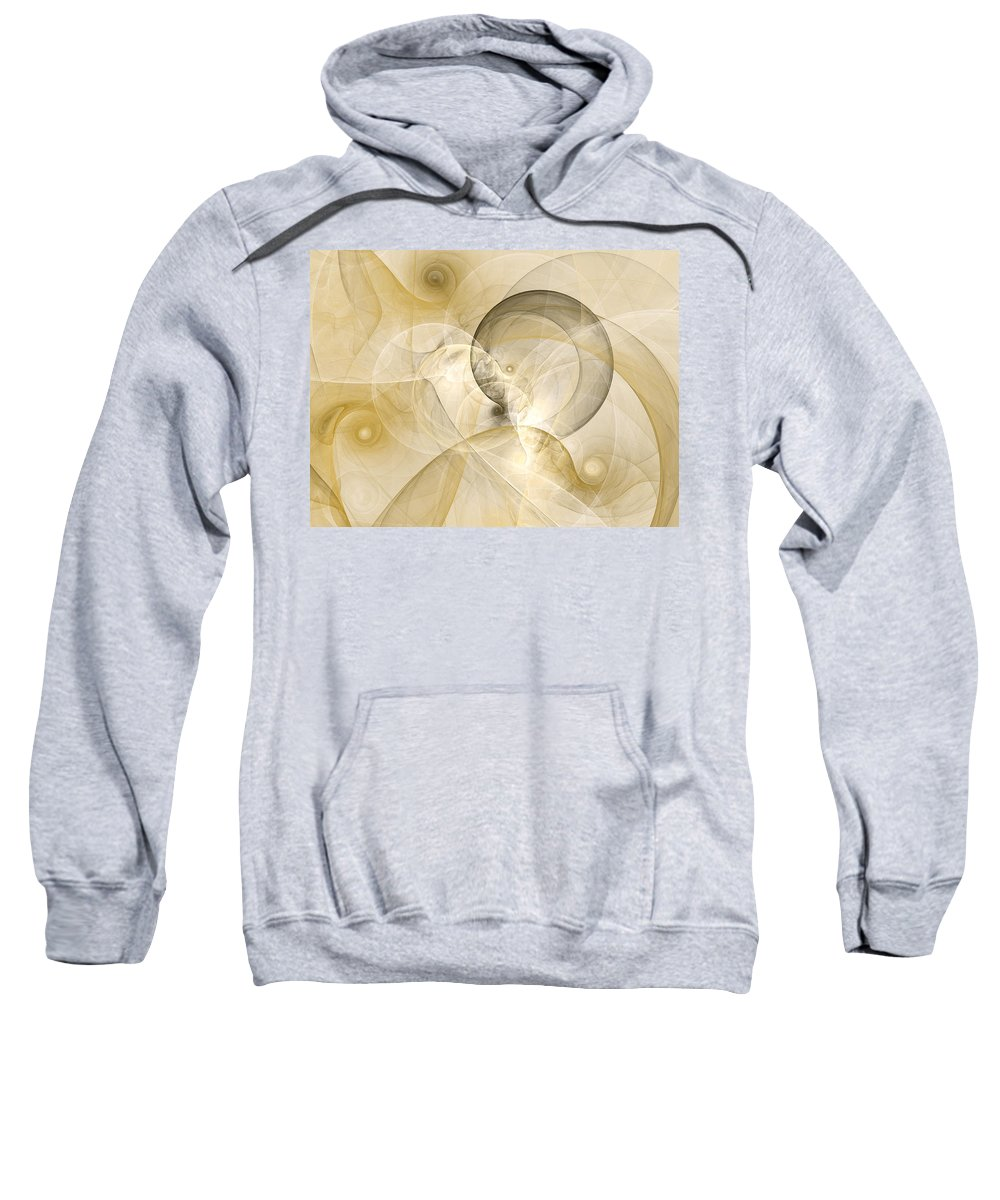 Abstract Sweatshirt featuring the digital art Series Abstract Art In Earth Tones 3 by Gabiw Art