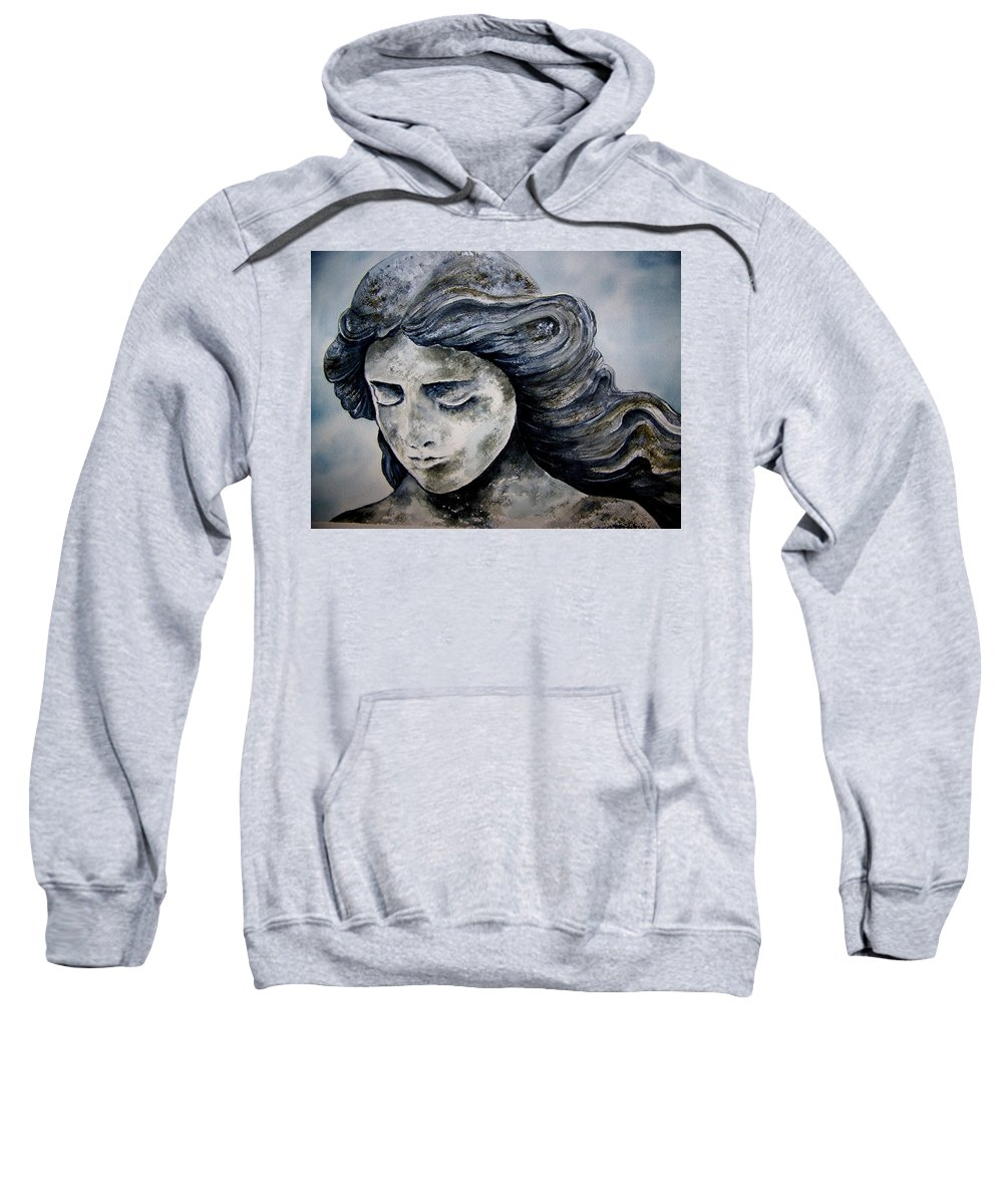 Stone Sweatshirt featuring the painting Set In Stone by Brenda Owen