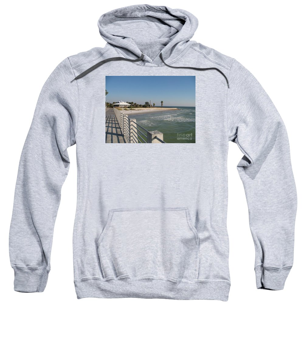 Pier Sweatshirt featuring the photograph Shadow On The Pier by Christiane Schulze Art And Photography