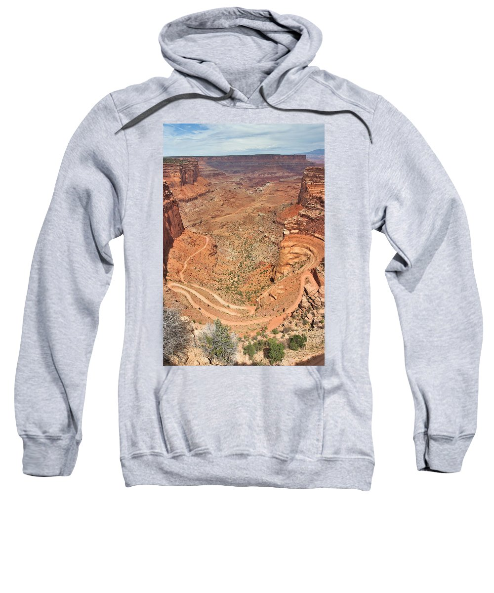 3scape Sweatshirt featuring the photograph Shafer Trail by Adam Romanowicz