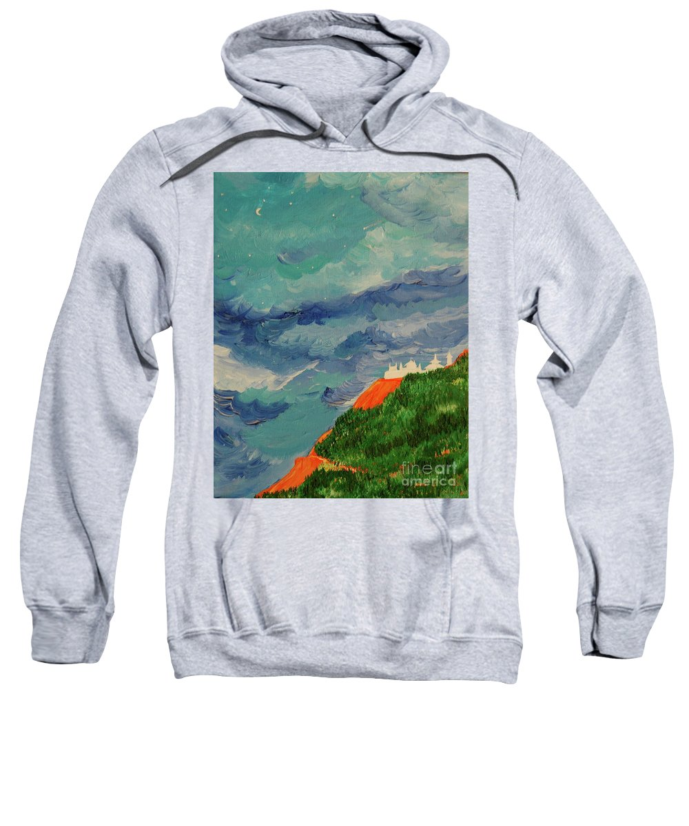 Landscape Sweatshirt featuring the painting Shangri-la by First Star Art