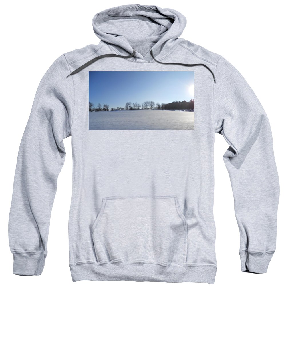 Snow Sweatshirt featuring the photograph Sheet Of White by Coleen Harty