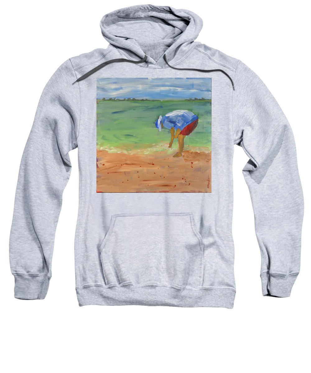 Wright Sweatshirt featuring the painting Shell Game by Paulette B Wright